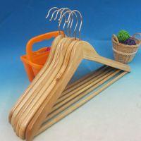 中秋活动实木衣架批发 木质无开槽衣挂 一级木衣架 木制晾衣架