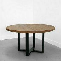 新家艺 美式乡村做旧铁艺圆桌仿古创意户外休闲桌厂家直销