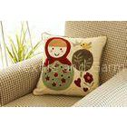 Cartoon Contour Memory Foam Pillow , Embroidered Decorative Couch Throw Pillows