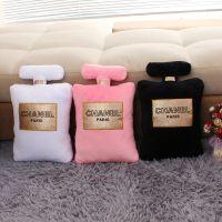 【新款上市】创意香奈儿香水瓶造型抱枕chanel毛绒玩具厂家批发