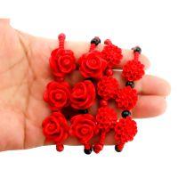 漆雕手链批发 三颗玫瑰花  旅游景区产品  地摊  跑江湖热卖