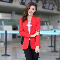 2014新款 韩版时尚女装长袖小西服 网络代理 免费一件代发 分销