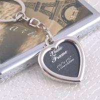创意相框 情侣钥匙配饰 个性照片钥匙框 爱心纪念小礼品