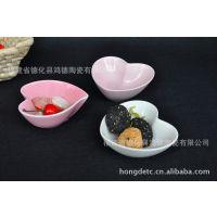 粉红两色 爱心 陶瓷味碟 料理碟 酱醋碟 零食碟 出口外贸LUZERNE