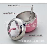 低价直销 304/201 苹果型可视调味罐 不锈钢调料瓶 苹果土豪金