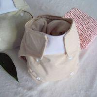 厂家批发婴儿可调节大小可洗环保天然有机纯彩棉超薄款布尿裤