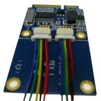 供应厂家直销 台式机Mini pci-e转usb转接卡 mini pcie扩展双口usb2.0