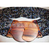 [厂家直销]串珠腰饰 米珠腰饰 珠织腰带 手工编织腰带 串珠饰品