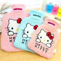 HELLO KITTY凯蒂猫热水袋 充水注水暖水袋 毛绒暖手宝批发