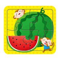 厂家批批发16片维尼熊纸质拼图具1-3岁儿童拼图益智拼板定制