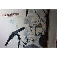 3D艺术雕刻瓷砖背景墙UV彩印机 电视背景墙UV打印机 UV彩雕机