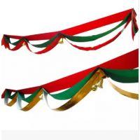 圣诞装饰波浪旗 吊旗挂旗彩旗商场酒店专用 1米
