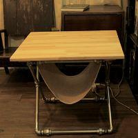 可定做创意个性茶几铁艺原木收纳桌实木桌子loft实木茶几客厅批发