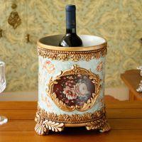 橡树庄园 贝亚特 欧式奢华树脂装饰冰桶摆件高档酒店会所餐厅用品