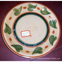 特价 7.5英寸圆形手绘盘子 陶瓷 特色餐厅餐具