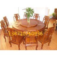 红木餐厅餐桌丨红木雕刻餐台丨北京中式用餐桌丨老红木餐桌价格