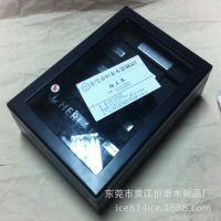 耳钉耳环木盒 戒指饰品配件木盒 黑色喷漆亚克力盖木盒定做