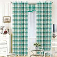 柯桥厂家直销新款客厅卧室单双面田园风格半遮光印花窗帘布料批发