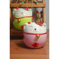 创意新款手绘陶瓷招财猫系列储蓄罐礼品工艺品 多款发货8433