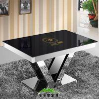 钢化玻璃火锅店餐桌 钢化玻璃火锅桌 无烟电磁炉桌子 全国定做