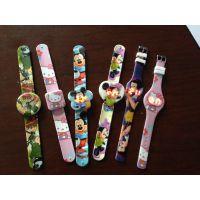 新款热卖卡通儿童LED拍拍手表 彩印拍拍果冻表 儿童玩具啪啪手表