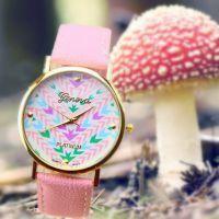 双十一备货亚马逊ebay速卖通货源 适合粉色花朵手表 外贸热销款