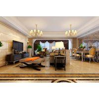 合肥山水装饰公司岭湖墅142平方简欧风格室内装修方案报价效果图