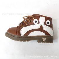 厂家直销新款高帮狗狗中童男童拉链橡胶底马丁童鞋童靴