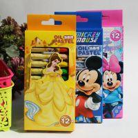 创美迪士尼米奇公主12色六角形油画棒 特惠价儿童画画笔 涂鸦笔