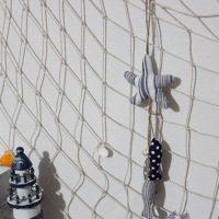 zakka布艺 新款海星和鱼手工布艺挂饰 创意家居饰品布艺挂件E0131