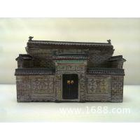 垂花门名片座创意旅游纪念礼品,古代仿古建筑微型模型装饰摆件