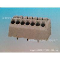 PCB接线端子 免螺丝式绿色接线端子250