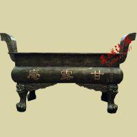铸铁大香炉哪里买 大型香炉 长方形平口香炉 圆肚 寺庙香炉 定做香炉