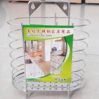 无磁筷子筒 不锈钢筷子笼 双筒带沥水多功能 筷子架 厨房筷筒