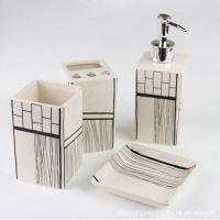 卫浴用品浴室用品套件漱口杯洗漱杯卫浴套件4色随机混批