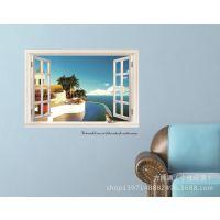 可移除装饰假窗客厅卧室餐厅书房儿童房沙发背景墙贴画 AY822