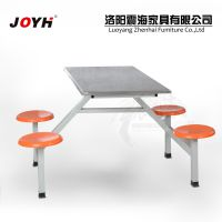 工厂尾货 职工学生不锈钢连体桌椅 快餐店食堂餐厅餐桌椅