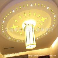速卖通专供 满天星客厅背景装饰镜面立体贴 天花板镜面墙贴43PCS