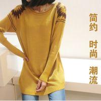 厂家批发货源2014秋装新款韩国毛衣外套中长款保暖打底衫