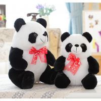 批发大号可爱纸熊猫 趴趴熊猫 坐姿熊猫填充毛绒玩具 招代理