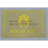 工厂直供高档家纺产品商标 金线织标 工艺精美 量大从优