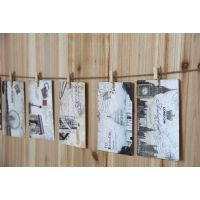 2014新款zakka 欧美复古照片墙  送明信片9张 夹子9个 批发