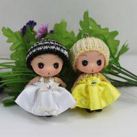 ②厂家直销 8cm冬装新款迷糊娃娃 低价供应毛绒玩具挂件 新年礼物