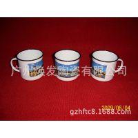 供应复古仿搪瓷杯马克杯 办公室水杯带盖 陶瓷杯 情侣杯