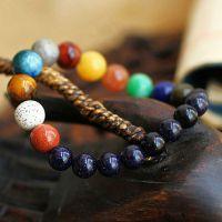 新款十贰连珠行星情侣手链 来自星星的你原创手工饰品