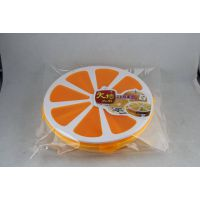 厂家直销  喜庆糖盒 A2651大桔糖果盒 零食收纳盒 糖果盘