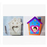 新品 儿童彩绘画相框 木片画 DIY相框 儿童手工制作材料 益智玩具