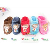 定做毛绒儿童拖鞋 毛绒室内室外通用拖鞋 毛绒保暖拖鞋厂家