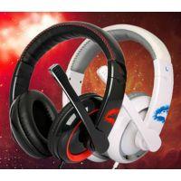 供应极智双月斩GH906耳麦电脑耳机 头戴式语音潮游戏耳麦带麦克风笔记