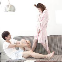 秋冬女士韩国睡衣针织纯棉性感连衣裙睡裙家居服睡袍两件套装宽松